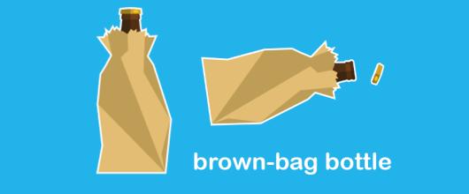 brown bag bottle