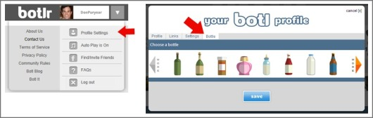 Selecting a Default Bottle