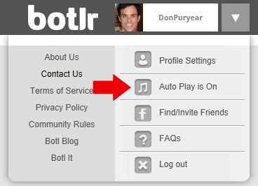 PROFILE SETTINGS autoplay